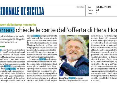 Lo Studio Scicchitano e il caso Palermo Calcio. Ne Parla la Stampa